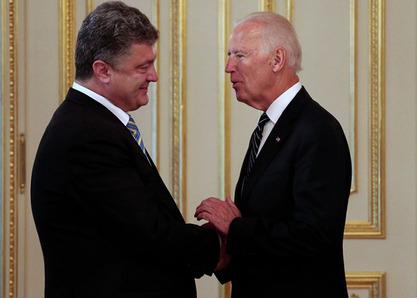 Украјински председник Петар Порошенко и потпредседник САД Џозеф Бајден