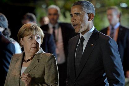 Меркел и Обама