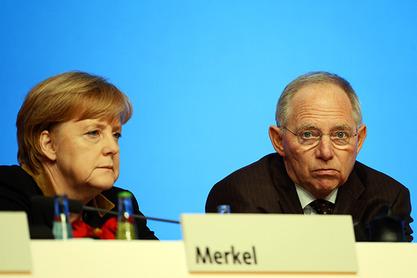 Aнгела Mеркел и Волфганг Шојбле