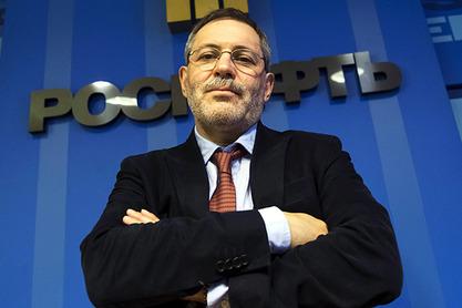 Михаил Леонтјев, водећи коментатор Првог канала руске државне телевизије