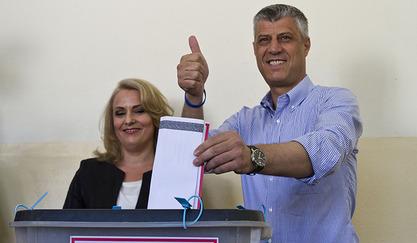 Шефа дипломатије самопроглашеног Косова Хашима Тачија / © Photo: AP/Visar Kryeziu