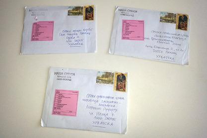 Europa-Хрватска враћа писма са ћириличном адресом, уз назнаку - ZABRANJENO