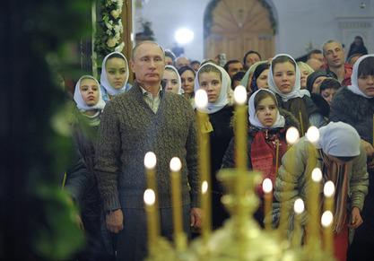 Руски вођа Владимир Путин вечерас је честитао Божић свим православним хришћанима
