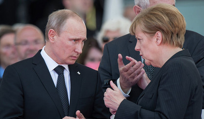 Ангела Меркел и Владимир Путин