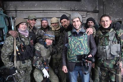 Грем Филипс са новоросијском војницима