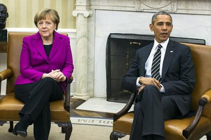 Ангела Меркел са Бараком Обамом у Вашингтону
