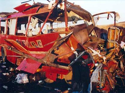 """Напад на аутобус """"Ниш експреса"""" у селу Ливадице"""
