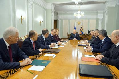 Владимир Путин размотрио је са сталним члановима Савета безбедности Русије