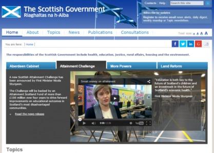 """Шкотска прогласила онлајн """"независност"""" од Велике Британије (www.gov.scot)"""