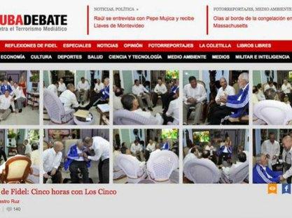 Некадашњи председник Кубе Фидел Кастро са обавјештајцима - Фото: Бета