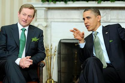 Енда Кени и Барак Обама
