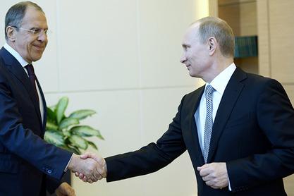 Сергеј Лавров и Владимир Путин