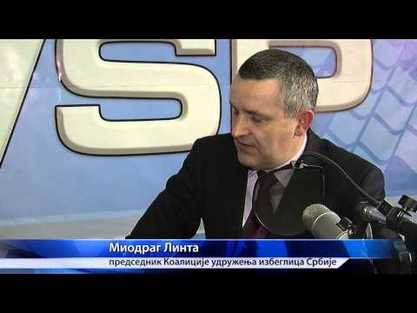 Председник Коалиције удружења избеглица Миодраг Линта / Фото: снимак екрана са Јутуба