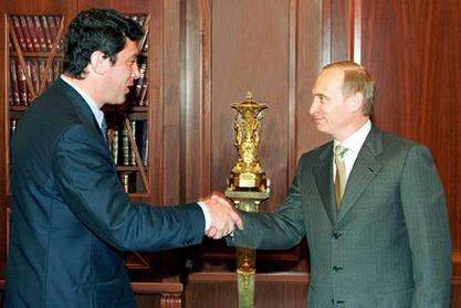 Владимир Путин и Борис Њемцов / Фото: Википедија