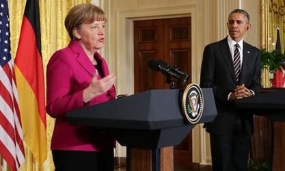 Барак Обама и Ангела Меркел о Украјини
