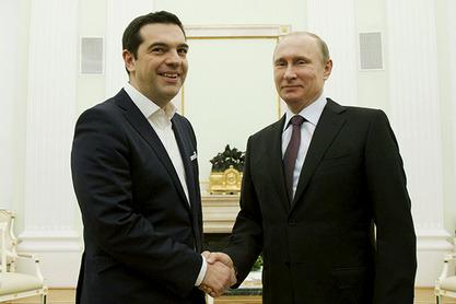 Aлексис Ципрас и Владимир Путин