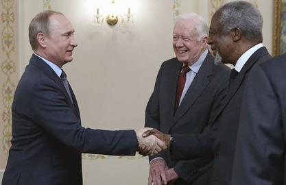 Владимир Путин, Џими Картер и Кофи Анан
