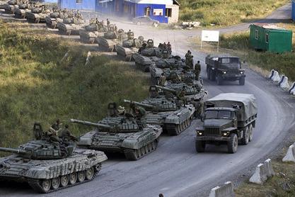 Руски тенкови у рату 08. 08. 2008. између Русије и Грузије