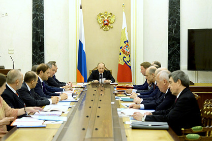 Владимир Путин на седници Комисије за војно-техничку сарадњу