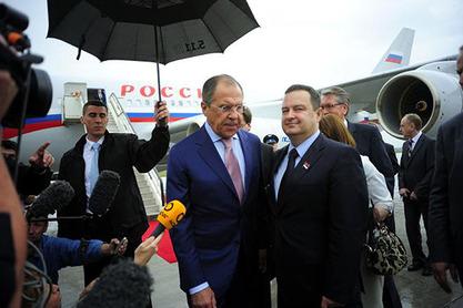 Министар иностраних послова Русије Сергеј Лавров и Ивица Дачић