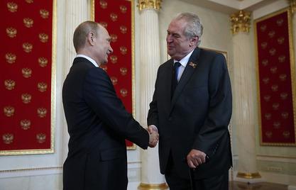 Владимир Путин и чешки председник Милош Земан