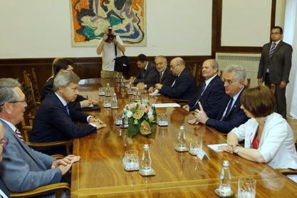 Алексеј Пушков са делегацијом код председника Србије