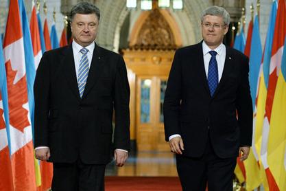 Петар Порошенко са Стивеном Харпером
