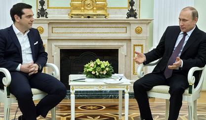 Председник РФ Владимир Путин и грчки премијер Алексис Ципрас