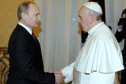 Владимир Путин и Франциско
