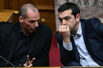 Јанис Варуфакис и Алексис Ципрас