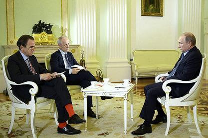 Владимир Путин са италијанским новинарима