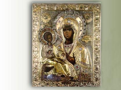 Икона Пресвете Богодорице Тројеручице