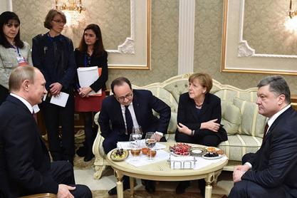 Нормандијска четворка – коју чине Владимир Путин, Ангела Меркел, Франсоа Оланд и Петар Порошенко