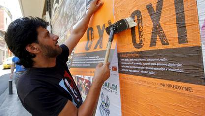 """Будућност од Грка тражи да у недељу на референдуму кажу """"не"""" (грчки: """"охи"""")"""