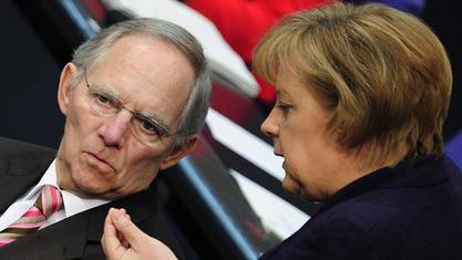 Волфганг Шојбле и Aнгела Mеркел