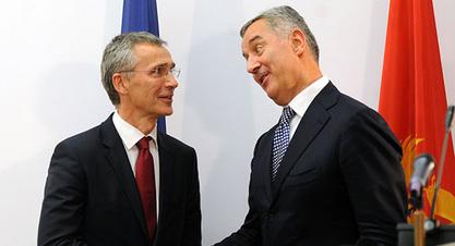Генерални секретар  НАТО Јенс Столтенберг и Мило Ђукановић