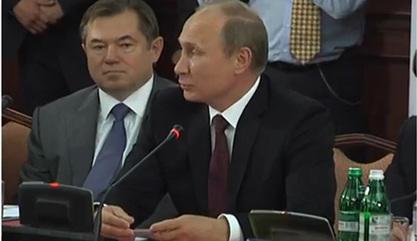 Сергеј Глазјев и Владимир Путин