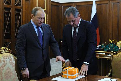 Шојгу је вечерас Путину предао црну кутију бомбардера Су-24