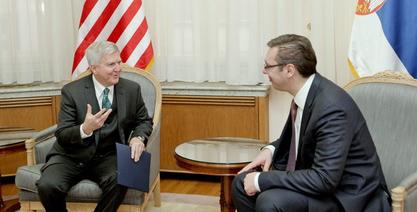 Кајл Скот са Александром Вучићем