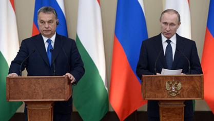 Мађарски премијер Виктор Орбан и руски председник Владимир Путин
