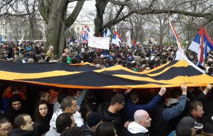 Више од хиљаду углавном младих људи протестовало је у Београду