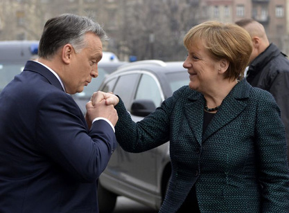 Мађарски премијер Виктор Орбан и Ангела Меркел