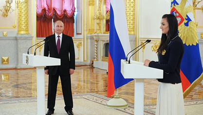 Руски председник Владимир Путин и спортисти