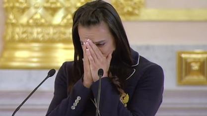Говор најбоље атлетичарке света Јелене Ишинбајеве у Кремљу / Фото: Јутјуб/слика екрана